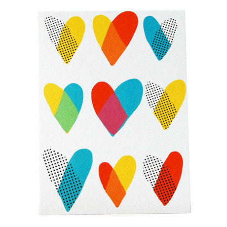 Dots Hearts Card by Yellow Owl Workshop