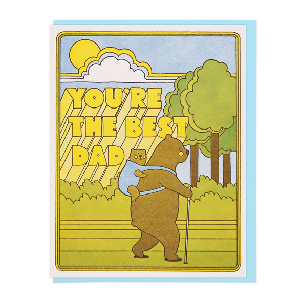 You're the Best Dad Hiking Bears Card by Lucky Horse Press