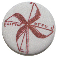 Little Otsu Screenprint Pinwheel Button by Alexa
