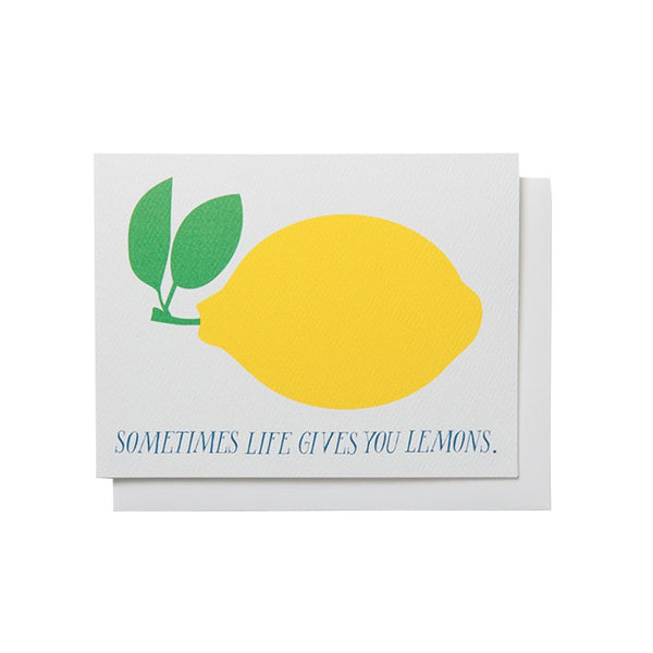 Sometimes Life Gives You Lemons Card by Banquet Workshop