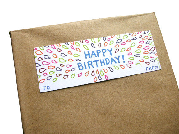 Birthday Gift Tag Set by Little Otsu