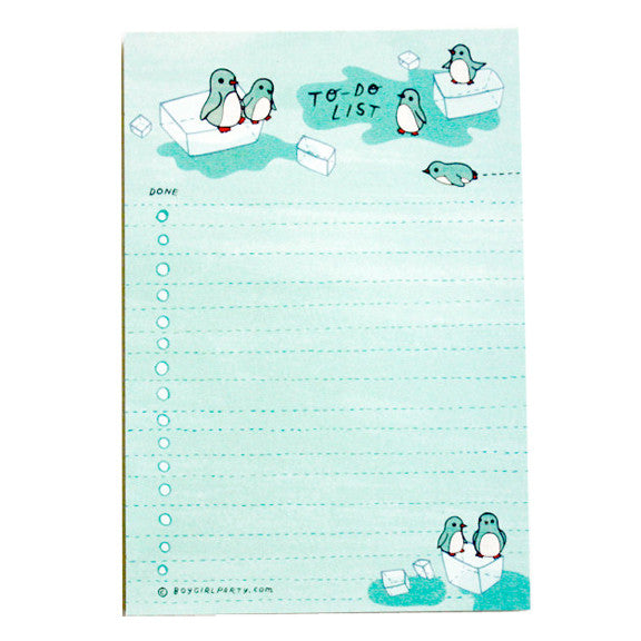 Penguin To-Do Notepad by Boygirlparty