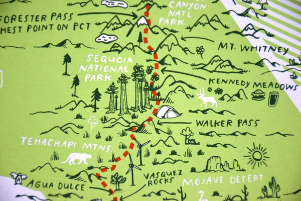 The Pacific Crest Trail 18x24 Print by Brainstorm
