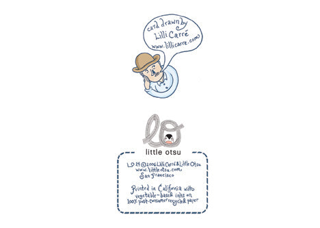 Lilli Carré Chat Card by Little Otsu