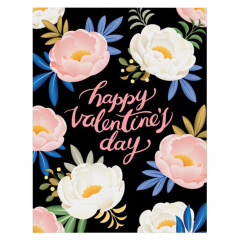 Peony Valentine's Day Card by Clap Clap