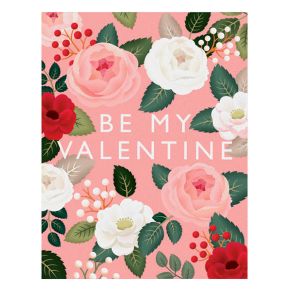 Pink Rose Valentine's Day Card by Clap Clap
