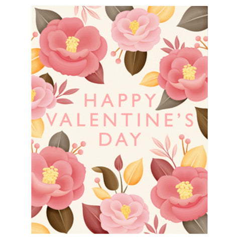 Camellia Japonica Valentine's Day Card by Clap Clap