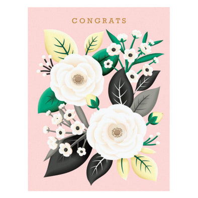 White Rose Congrats Card by Clap Clap
