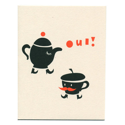 Oui Card by Darling Clementine