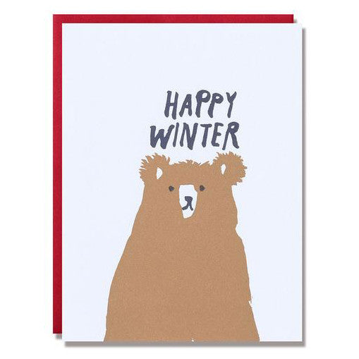 Happy Winter Bear Card Set by Egg Press
