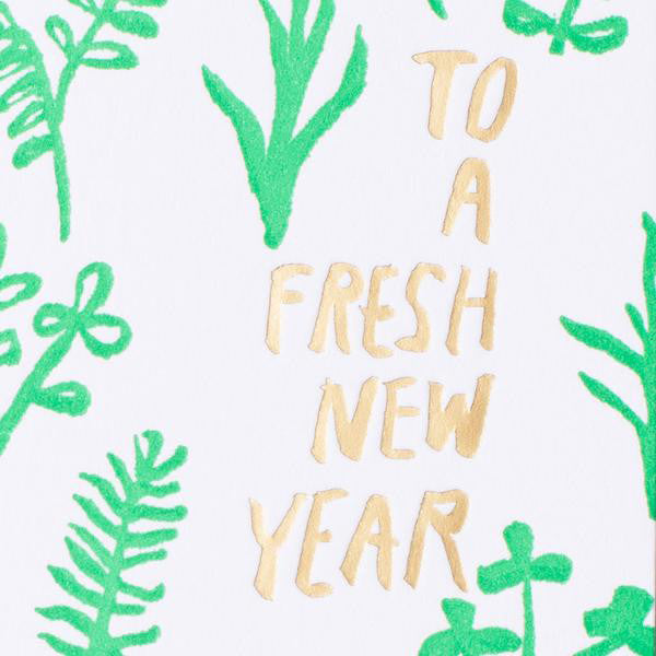 Sprouts New Year Card by Egg Press