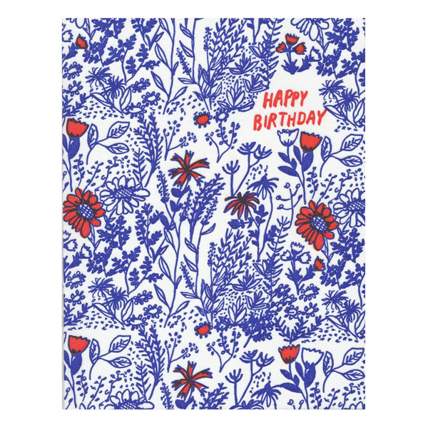Wild Floral Birthday by Egg Press