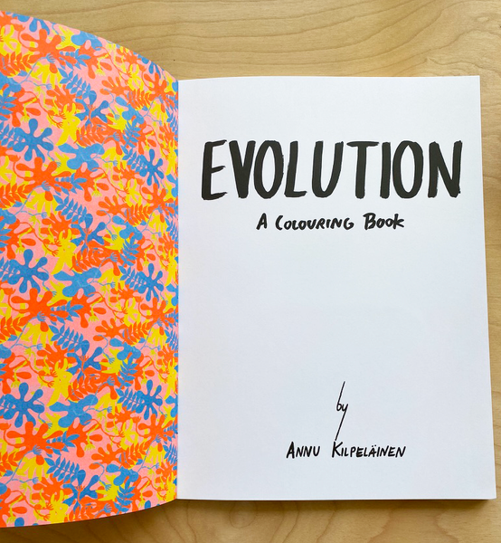 Evolution A Colouring Book by Annu Kilpelainen