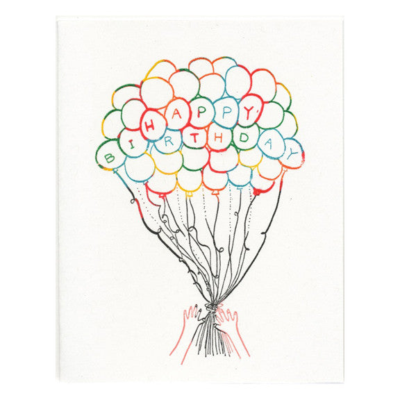 Birthday Balloons Card by The Great Lakes Goods