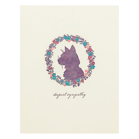 Cat Sympathy Card by Hello Lucky