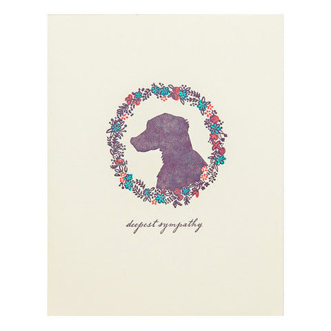Dog Sympathy Card by Hello Lucky
