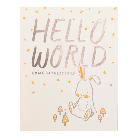 Hello World Bunny & Caterpillar Card by Hello Lucky