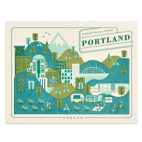 Visit Portland Card by Hello Lucky
