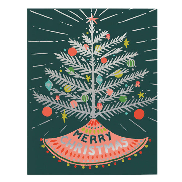 Aluminum Tree Merry Christmas Card by Idlewild Co.