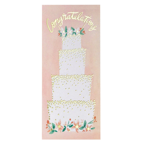 Idlewild Co. Wedding Cake Congratulations Card