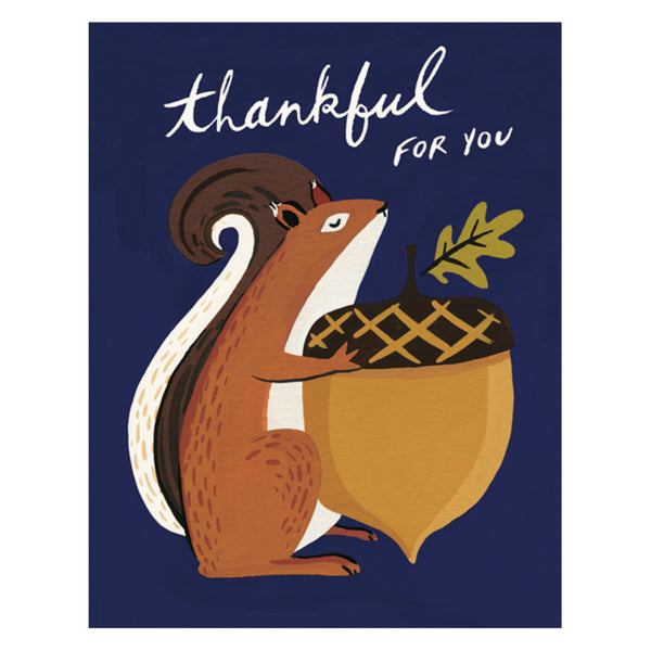 Idlewild Co. Thankful Squirrel Card