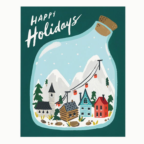 Happy Holidays Village Terrarium Card Set by Idlewild