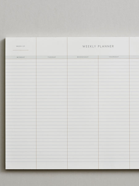Weekly Planner Pad by Kartotek