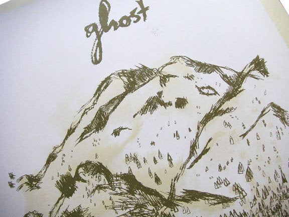 Ghost Screenprint by Landland