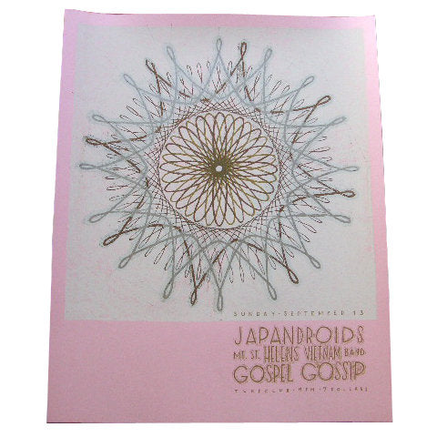 Japandroids Screenprint (pink) by Landland