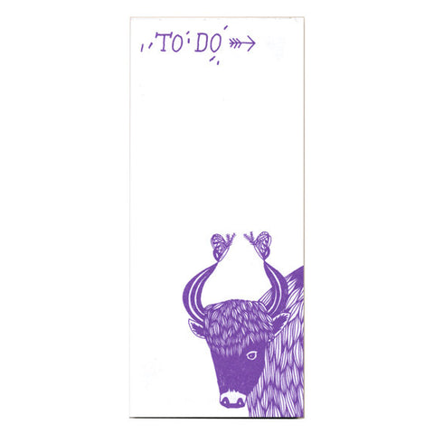Jo Dery Yak To Do Notepad by Little Otsu