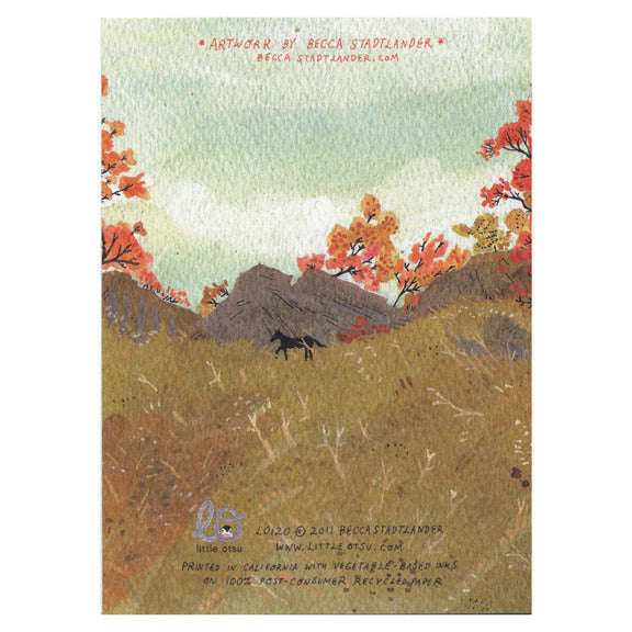 Becca Stadtlander Autumn Card by Little Otsu