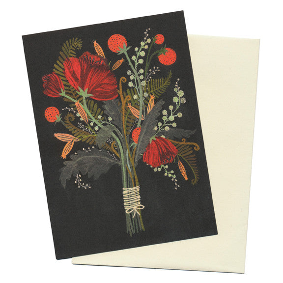 Becca Stadtlander Flowers Card by Little Otsu