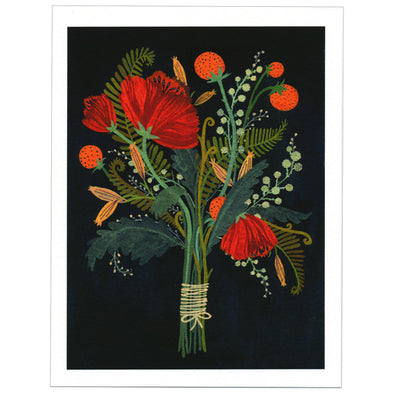 Becca Stadtlander Flowers Print by Little Otsu