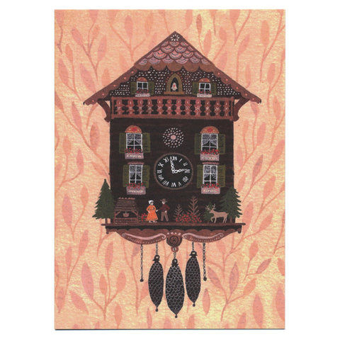 Becca Stadtlander Cuckoo Clock Card by Little Otsu