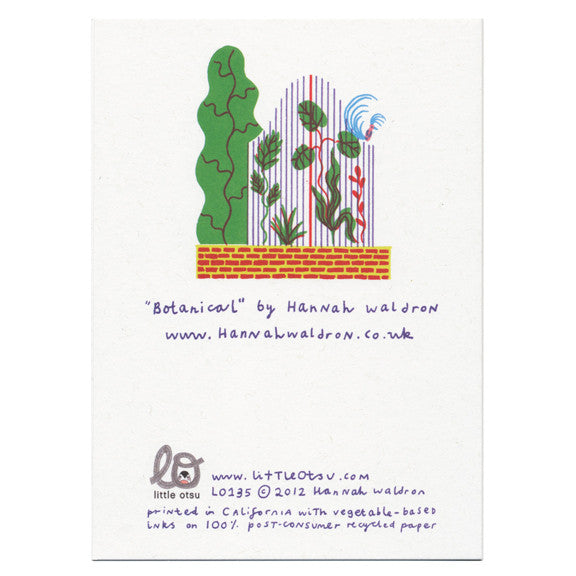 Hannah Waldron Botanical Card by Little Otsu