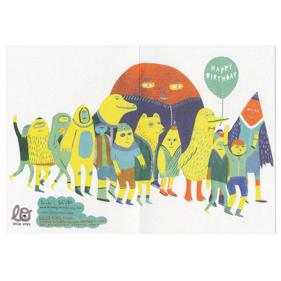 SCUBA Birthday Parade Card by Little Otsu