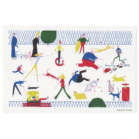 Daniel Frost Dog Park Print by Little Otsu