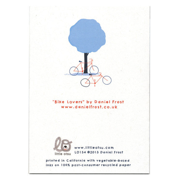 Daniel Frost Bike Lovers Card by Little Otsu