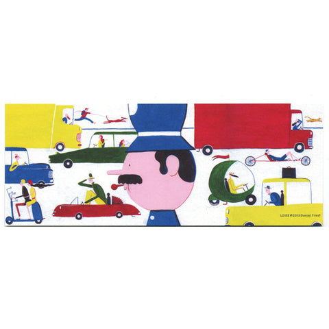 Daniel Frost Traffic Bookmark by Little Otsu