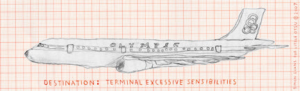 Simon Evans Plane Bookmark by Little Otsu