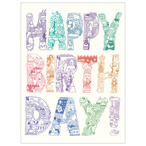 Gemma Correll Happy Birthday Card by Little Otsu