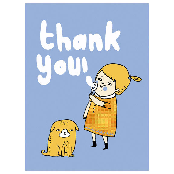Gemma Correll Bubble Thank You Card by Little Otsu