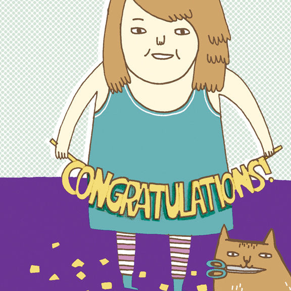 Gemma Correll Congratulations Card by Little Otsu