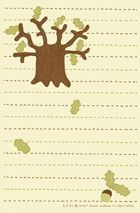 Oak Tree Stationery by Kate Sutton