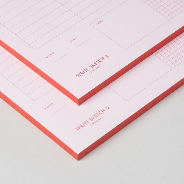 Weekly Planner Pad by Write Sketch &