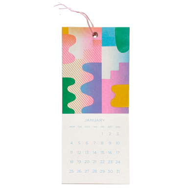 2021 Mini Hanging Calendar by Risotto