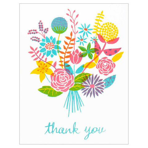 Bunch of Flowers Thank You Card by The Seapink