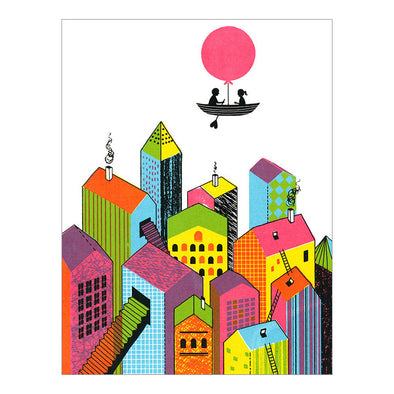 Love House Screenprint by Boyoun Kim