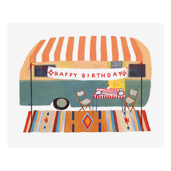 Camper Trailer Birthday Card by Small Adventure