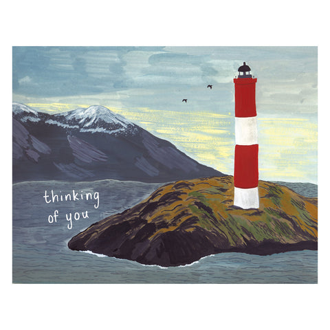 Lighthouse Thinking of You Card by Small Adventure